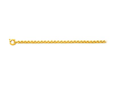 Collier maille jaseron, Or jaune 18k, 4,8 mm