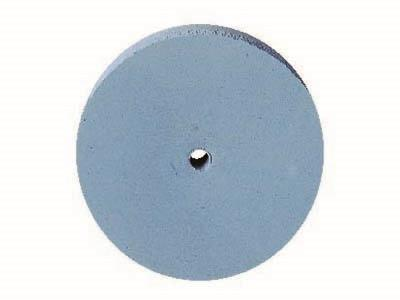 Meulette silicone ronde, bleue, grain fin, dimensions 22 x 3 mm, n 1200, EVE
