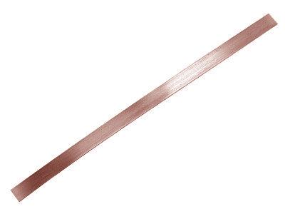 Brasure or rose 18k faible, bande 0,20 x 30 mm