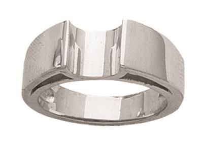 Bague diamtre 7 mm Or Gris 800 rf. 2510
