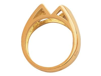 Bague Or jaune 18k 10 x 6 mm rf.2536