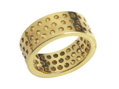 Alliance 00113, 3 rangs, Or jaune 18 K, sur commande