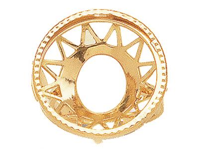 Bague 5456 Porte pice de 20 Frs Or jaune 18k
