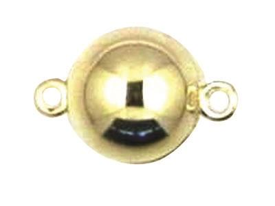 Fermoir boule magntique Or jaune 18k 10 mm Rf. 27070