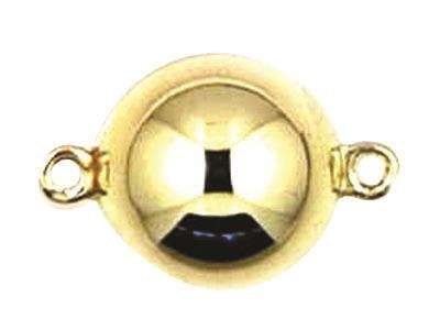 Fermoir boule magntique Or jaune 18k 12 mm. Rf. 27070