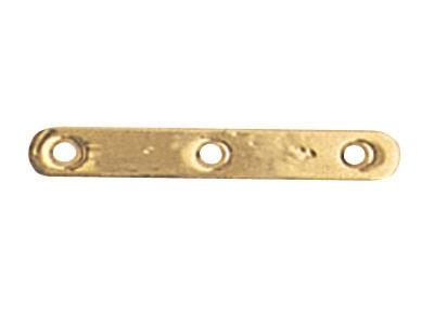 Intercalaire barrette 3 trous 18 mm, Or jaune 18k, n 3 Bis