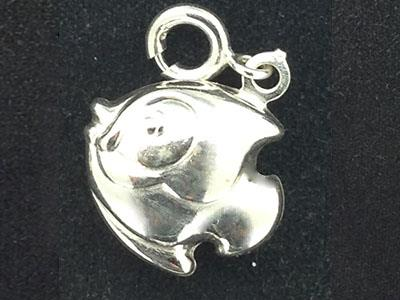Pampille poisson 6 mm. Argent 925