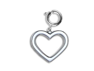 Pampille coeur grand modle 6 mm Argent 925
