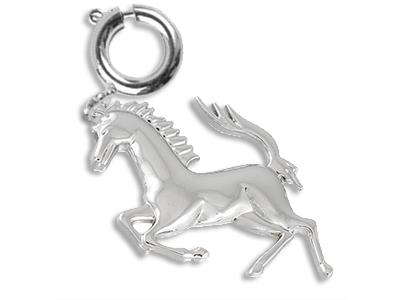 Pampille-cheval,-Argent,-6-mm.