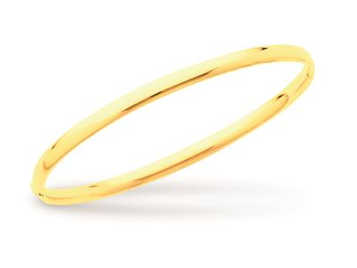 Jonc ouvrant Or jaune 18k fil ovale 4 mm forme Ovale. Diam 58 mm