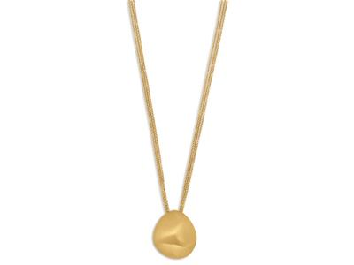 Collier Tiramisu Or jaune 18K bross 50 cm