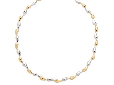 Collier Gouttes 56 mm Or bicolore 18k 435 cm