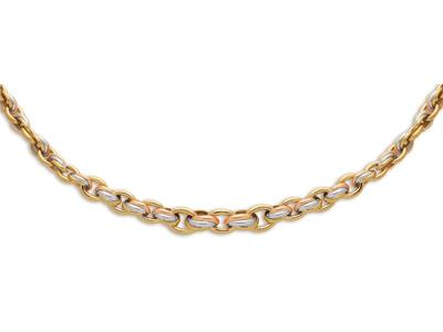 Collier 5067 Hawai en chute, Or tricolore 18k, 45 cm