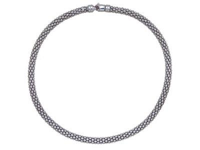 Collier-Pop-corn-7-mm,-Argent-925-rho...