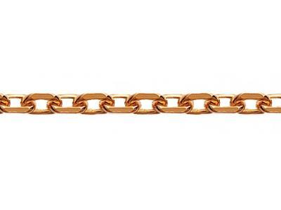Chaine maille Forat diamante 1 mm Or rouge 18k. Rf. 00430