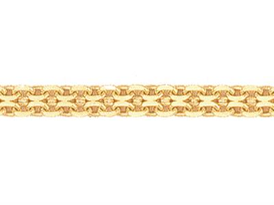 Chaine maille Forat double aplatie 285 mm Or jaune 18k. Rf. 00673