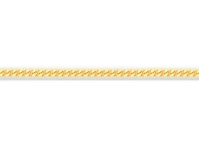 Chaine Gourmette diamante 1 mm Or jaune 18k. Rf. 00230