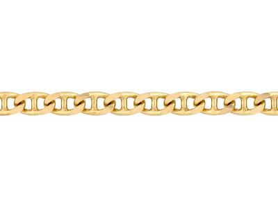 Chaine Marine plate, 3 mm, Or jaune 18k. Réf. 00162