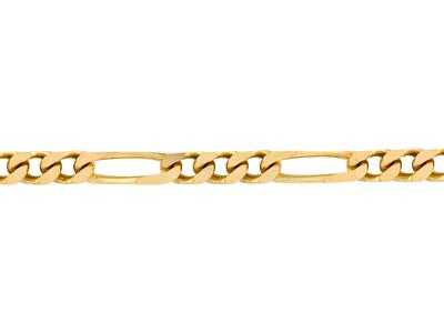 Chaine Figaro alternée 1/3, 4,2 mm, Or jaune 18k. Réf. 00962
