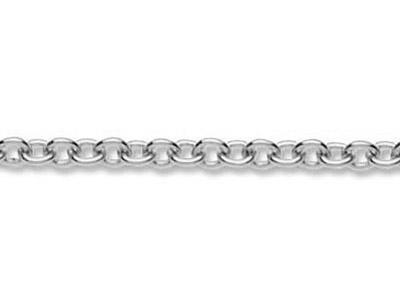 Chaine maille Forat ronde 23 mm Or gris 18k rhodi. Rf. 00360