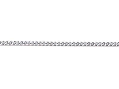 Chaine Gourmette diamante 1 mm Or gris rhodi 18k. Rf. 00230