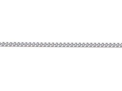 Chaine Gourmette diamante 14 mm Or gris rhodi 18k. Rf. 00240