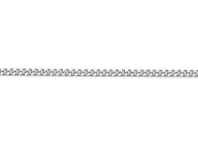 Chaine Gourmette diamante 12 mm Or gris rhodi 18k. Rf. 00235