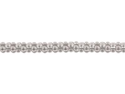 Chaine Argent maille Fantaisie framboise, 5,6 mm. Réf. 10143