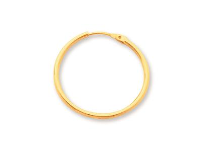 Crole en fil rond Or jaune 18k 12 mm Diamtre  20 mm