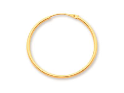 Crole en fil rond Or jaune 18k 12 mm Diamtre  24 mm