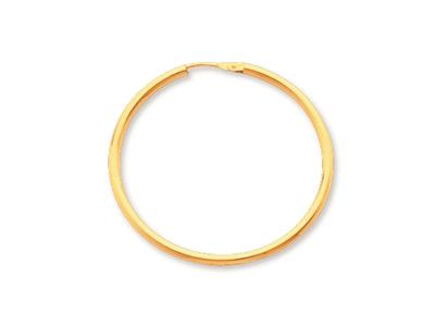 Crole en fil rond Or jaune 18k 16 mm Diamtre  30 mm