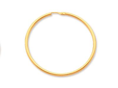 Crole en fil rond Or jaune 18k 16 mm Diamtre  35 mm