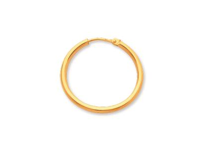 Crole en fil rond Or jaune 18k 2 mm Diamtre  24 mm