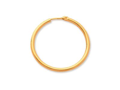 Crole en fil rond Or jaune 18k 2 mm Diamtre  30 mm