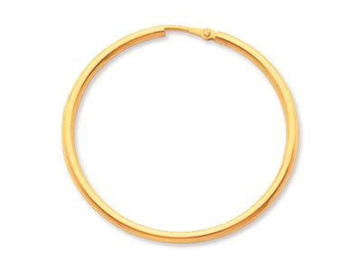 Crole en fil rond Or jaune 18k 2 mm Diamtre  40 mm