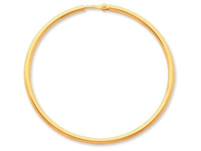 Crole en fil rond Or jaune 18k 2 mm Diamtre  45 mm