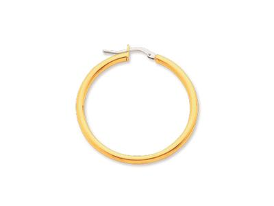 Crole en fil rond Or jaune 18k 25 mm Diamtre  30 mm