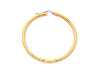 Crole en fil rond Or jaune 18k 25 mm Diamtre  40 mm