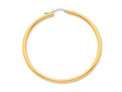 Crole en fil rond Or jaune 18k 25 mm Diamtre  45 mm