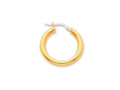 Crole en fil rond Or jaune 18k 3 mm Diamtre  15 mm