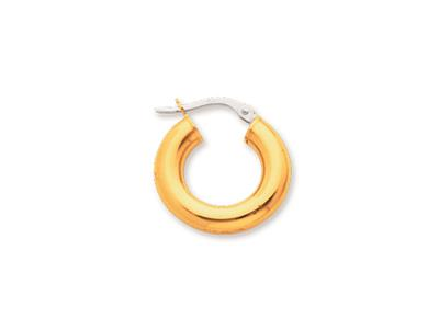 Crole en fil rond Or jaune 18k 4 mm Diamtre  10 mm