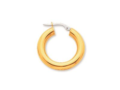 Crole en fil rond Or jaune 18k 4 mm Diamtre  15 mm