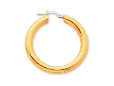 Crole en fil rond Or jaune 18k 4 mm Diamtre  25 mm