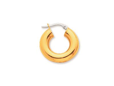 Crole en fil rond Or jaune 18k 5 mm Diamtre  10 mm