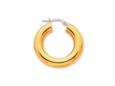 Crole en fil rond Or jaune 18k 5 mm Diamtre  15 mm