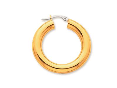 Crole en fil rond Or jaune 18k 5 mm Diamtre  20 mm
