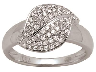 Bague-feuille-Or-gris,-diamants-0,38-ct