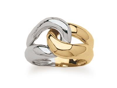 Bague entrelace Or bicolore 18k