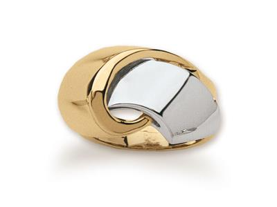Bague Noeud, Or bicolore 18k