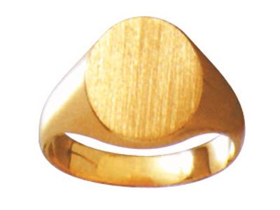 Chevalire massive 24 estampe  plat Or jaune 18k 13 x 11 mm